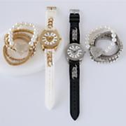 rubber strap watch bracelets set