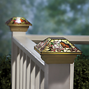 Hand-Painted Solar Butterfly Fence Topper