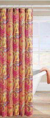 Bright Paisley Shower Curtain