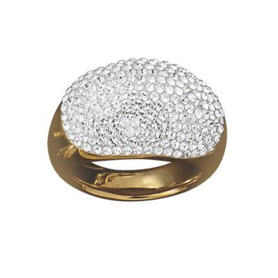 14K Gold Nano Diamond Resin Crystal Ring