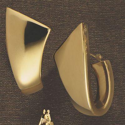14K Gold Nano Diamond Resin Modern Hoops