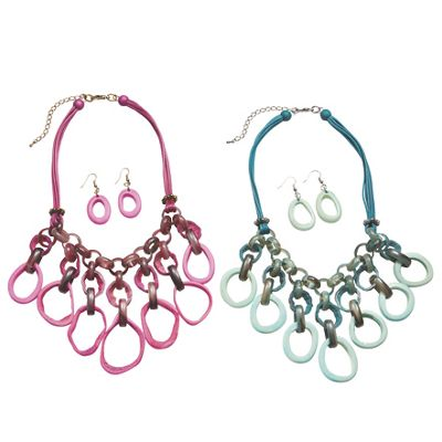 Ovals Necklace/Earring Set