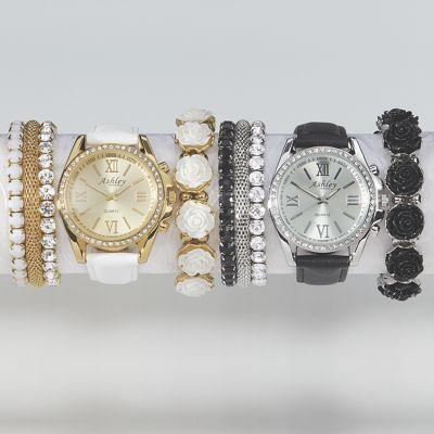 Watch/Stretch Bracelets Set