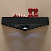 corner shelf with led light