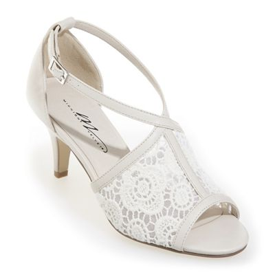 Embroidered Lace Sandal by Midnight Velvet