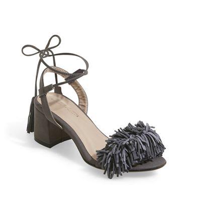 Tie-Strap Fringe Sandal by Midnight Velvet