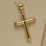 14k gold nano diamond resin cross pendant
