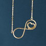 10k gold infinity heart pendant