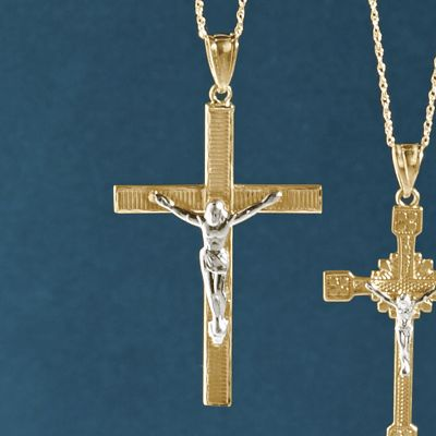 Gold Crucifix Pendant