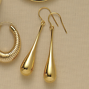 14k gold nano diamond resin teardrop earrings