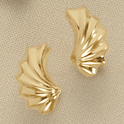 wave post earrings