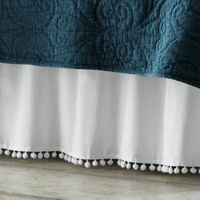 Ball-Fringe Bedskirt and Sham Set
