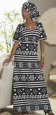 Damita Headwrap and Knit Dress