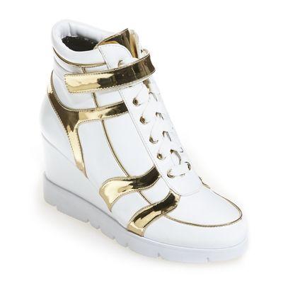 Contrast High-Top Sneaker by Midnight Velvet