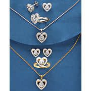 Diamond Heart Jewelry Set