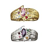 family name birthstone ring