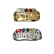 """Mother"" Or ""Grandma"" Family Birthstone Ring"