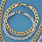 men s stainless steel 6mm rope bracelet