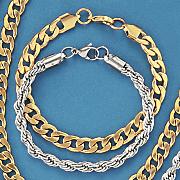 men s stainless steel 8 5mm curb bracelet