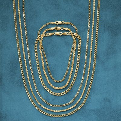 Gold Figaro Necklaces