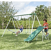 Backyard Metal Swing Set