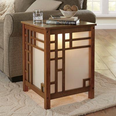 Lighted Craftsman Side Table