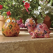 set of 2 floral animal solar lights solar lights