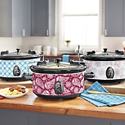 6 qt  pattern slow cooker with locking lid by ginny s