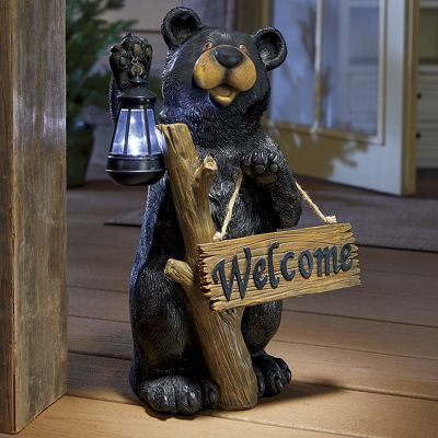 Solar Bear with Welcome Sign