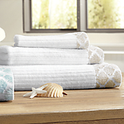 shell jacquard 3 pc  towel set