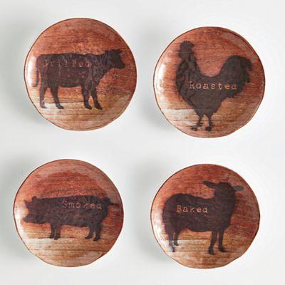 Set of 4 Appetizer Plates