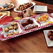 Grill BBQ Family Melamine Section Dish