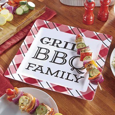 Grill BBQ Family Melamine Platter