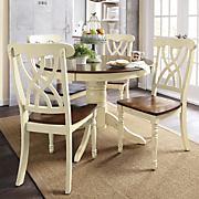 round dining table   set of 2 chairs