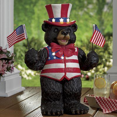 Solar Uncle Sam Bear