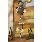 Wolf Feather Wind Chime