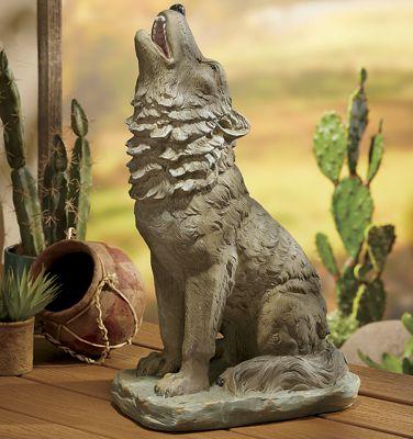 Clay Wolf Garden Statue