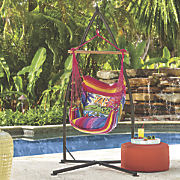 Gator Stripe Hammock Swing, Alligator Pillow and Stand Base
