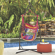 Gator Stripe Hammock Swing Alligator Pillow and Chair Stand Base