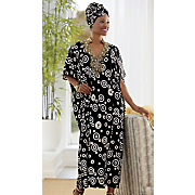 shantell caftan and shantell headwrap