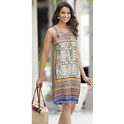 tie shoulder border dress