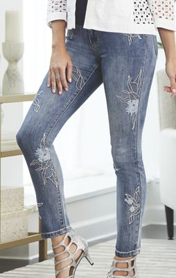 Embroidered Paradise City Jean