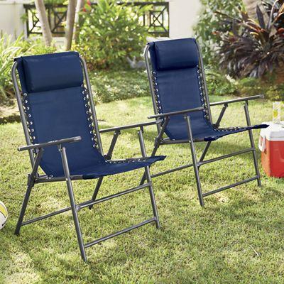 Folding Lounge Chair Set