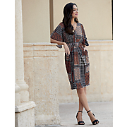 Frame Print Dress