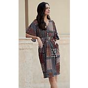 frame print dress 48