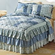 heartland triple ruffle bedspread and sham