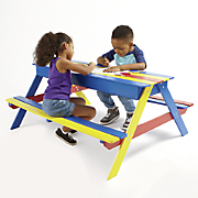 Kids' Colorful Picnic Table