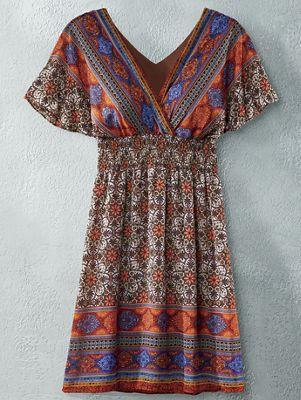 Kaleidoscope Border Dress