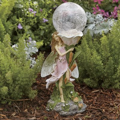 Solar Fairy with Glass Orb