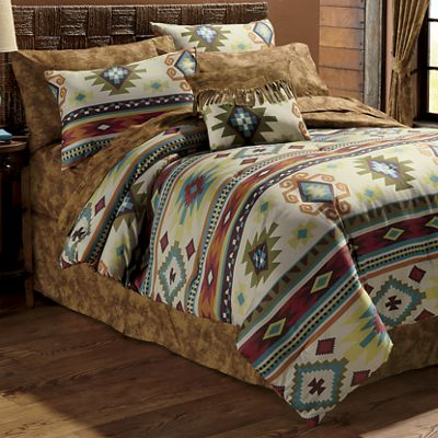 Mohave Complete Bed Set, Accent Pillow and Window Treatments